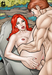 ass ass_grab big_ass big_breasts big_butt big_muscles big_nipples big_penis brown_hair cyclops cyclops_(x-men) female fingernails from_above glowing_eyes grabbing grabbing_own_ass green_eyes huge_areolae huge_ass huge_breasts huge_butt huge_cock huge_muscles huge_nipples jean_grey leandro_comics legs legs_crossed legs_over_head legs_together legs_up lips lipstick looking_at_another looking_at_partner looking_down looking_up male male_penetrating marvel marvel_comics missionary missionary_position moan moaning mouth muscular muscular_male naked nude on_back open_mouth penetration red_eyes red_hair red_lips red_lipstick red_nails scott_summers straight vaginal_insertion vaginal_penetration vaginal_sex x-men yawn
