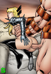 anal anal_gape anal_insertion anal_sex armor arms_behind arms_behind_back ass ass_grab big_ass big_balls big_breasts big_butt big_muscles big_nipples big_penis black_boots black_legwear blonde_hair boots breasts closed_eyes destruction doggy_style female from_behind from_behind_position gaping gaping_anus grabbing grabbing_ass grabbing_own_ass huge_areolae huge_ass huge_balls huge_breasts huge_butt huge_cock huge_muscles huge_testicles juggernaut kneeling leandro_comics legwear magik_(illyana_rasputin) male male_penetrating marvel marvel_comics moan moaning mouth muscles muscular muscular_male mutant on_knees open_mouth penetration rear_view spikes standing standing_doggy_style standing_sex straight tall thrusting waist_grab x-men