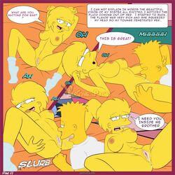 bart_simpson brother_and_sister cunnilingus incest lisa_simpson the_simpsons thigh_boots