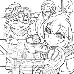 beecon123 fellatio female group internal league_of_legends male male/female oral penis poppy riot_games sex short_stack stealth_sex teemo tristana under_table under_the_table video_games yordle