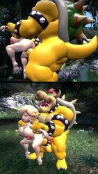 ass balls big_ass big_butt bowser breasts doggy_style female from_behind_position happy_sex interspecies koopa large_breasts large_male large_penis looking_pleasured male male_dominating nintendo penis pleasure_face princess_rosalina small_female straight super_mario_bros. super_mario_galaxy thick_thighs tongue_out
