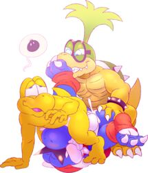 3_toes anal anal_sex barefoot blue_yoshi boshi claws cum cum_in_ass cum_in_mouth cum_inside eyewear feet fellatio foot_fetish foot_on_face foot_sniffing group group_sex hi_res iggy_koopa irrumatio koopa koopa_troopa koopaling male male/male mario_bros nintendo oral penetration sex slightly_chubby tderek99 threesome toe_claws toes transparen_background video_games yoshi