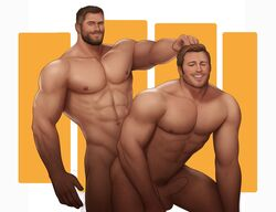 2boys anal avengers captain_america celebrity drawnpr0n erection gay male male_only marvel muscle muscular penis thor yaoi