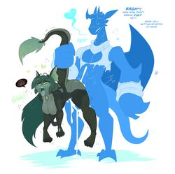 ahe_gao blush breasts clothing cum dragon ear_fins female fin freckles gem hair hanging_breasts heart hi_res kili_(kilinah) kilinah long_hair looking_pleasured male male/female marine merfolk miren open_mouth scalie sex size_difference tail_grab tongue tongue_out torn_clothing