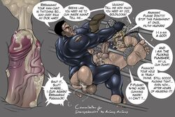 2boys anal anal_sex animasanimus armpit_hair bara big_ass big_penis black_hair blonde_hair boots closed_eyes cum cum_in_ass cum_in_pussy frank_castle grunting hairy hairy_ass long_hair marvel marvel_comics muscular_male pubic_hair punisher ripped_clothing speech_bubble text thick_penis thick_thighs thor veiny_penis x-ray yaoi