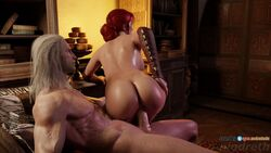 3d animated areolae ass audiodude blender breasts erection female from_behind geralt_of_rivia male niodreth nipples penetration penis pussy sex sound straight the_witcher triss_merigold vaginal_penetration webm