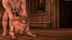 1boy 1girl 3d abs all_fours ass ass_up bent_over breasts candle doggy_style erection face_down_ass_up female from_behind from_behind_position geralt_of_rivia green_eyes green_hair hanging_breasts legs lit_candle medium_hair nipples nude penis rosa_var_attre scar scars selfmindsources sex shiny shiny_skin source_filmmaker straight sweat sword taken_from_behind the_witcher the_witcher_3:_wild_hunt top-down_bottom-up twitter_username white_hair