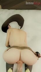1boy 1girls 3d anal anal_grip animated ashe_(overwatch) ass asymmetrical_hair backboob belt big_hat blender cowboy_hat doggystyle dominothecat erection female female_focus functionally_nude giver_pov hanging_breasts hat looking_back male male_penetrating male_pov mostly_nude naked_belt navel no_pubes no_sound overwatch penetration penis pov pussy pussy_grip sex straight submissive thrusting tight_fit vaginal_penetration webm white_hair