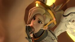 3d artist_request blowjob clothed_female_nude_male male mercy overwatch penis tagme