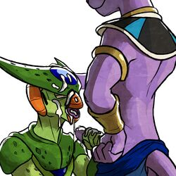 1:1 2boys alien anthro beerus blitzdrachin cell_(dragon_ball) claws clothed clothing cum cum_on_face cum_string dragon_ball dragon_ball_super dragon_ball_z erection feline fellatio furry gay hand_on_head humanoid_penis interspecies long_ears male male_only mammal masturbation nude on_ground open_mouth oral orgasm pants penile_masturbation penis purple_penis sex sharp_claws sitting smile topless yaoi