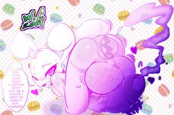 anal ass balls bent_over big_balls blush cum easter easter_bunny egg feral girly holidays huge_balls hyper hyper_balls hyper_penis lube oviposition paint penis presenting presenting_hindquarters screen_tones sweat text white_crest