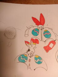 1girls ambiguous_gender anal anal_insertion anthro anthrofied anus ass ass_grab big_ears female huge_ass human insertion lagomorph large_insertion long_ears meow_fuck nintendo photo pokemon pokemon_ss pov pussy scorbunny sketch text thick_thighs white_fur wide_hips