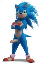 alpha_channel anhes anthro balls clothing crossed_arms erection eulipotyphlan footwear gloves hedgehog humanoid_penis male mammal nude penis shoes solo sonic_(series) sonic_the_hedgehog sonic_the_hedgehog_(movie)