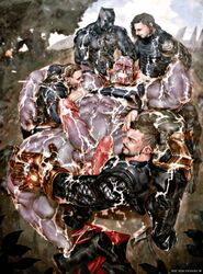 anal_penetration anal_sex animated avengers black_panther_(marvel) cum_everywhere double_fellatio erection fisting gay male male_only male_penetrating orgasm_face rokudenashi sex steve_rogers sucking_nipples thanos thor winter_soldier yaoi