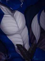 2019 absurd_res animal_genitalia animal_penis anthro bed belly_scales big_penis black_penis blue_scales countershade_torso countershading dathamier diphallism dragon erection front_view genital_slit grey_scales half-length_portrait hemipenes hi_res idoodle2draw inviting lounging male manly markings multi_penis multicolored_scales nude pecs penis portrait pose precum precum_drip precum_string presenting presenting_penis purple_background ridged_penis runes scales scalie seductive signature silver_countershading simple_background slit smile solo symbol two_tone_scales vertical_diphallism western_dragon white_countershading