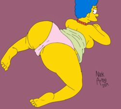 animated anus ass clothing female marge_simpson nickartist panties partially_visible_anus pink_panties pussy the_simpsons