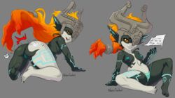 10s all_fours areolae artist_name ass barefoot bent_over blonde_hair blue_nipples breasts fangs feet female full_body galactic_overlord glowing_markings helmet highres huge_ass imp imp_midna midna nintendo nipples panties plump presenting pussy simple_background small_breasts soles solo spanked spanking spread_legs text_focus the_legend_of_zelda thick_thighs thighs third-party_edit topless twili twilight_princess uncensored underwear wide_hips