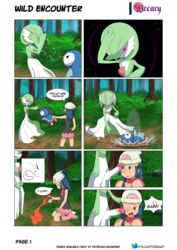 1boy 1girls absurd_res ambiguous_gender blush comic dawn_(pokemon) dreary female feral gardevoir highres human imminent_oral interspecies male nude penis penis_on_face piplup poke_ball pokemon pokemon_dppt pokemon_rse straight