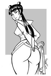 avatar_the_last_airbender back_view big_ass female human mai_(avatar) no_panties solo vicente