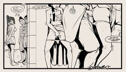 ass ass_grab avatar_the_last_airbender azula biting_finger brother_and_sister comic cuckquean cum cum_inside doggy_style english_text female_masturbation finger_fuck fingering fingering_self incest mai male masturbation monochrome netorare panties_down penis public_sex reverse_netorare shadowmist standing_doggy_style ty_lee zuko
