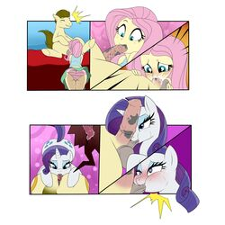 <3_eyes 1:1 absurd_res anal animal_genitalia animal_penis ass ball_suck balls blue_eyes blush bottomwear clothed clothing comic cum cum_in_mouth cum_inside cum_on_face cutie_mark digital_media_(artwork) duo emanata enookie equid equine equine_penis erection eyeshadow fan_character fellatio female female_on_feral feral fluttershy_(mlp) friendship_is_magic fully_clothed fur hair heart hi_res hooves horn horse human human_on_feral humanoid_penis internal interspecies makeup male male/female mammal my_little_pony oral orgasm panties penile penis pink_hair pony purple_hair pussy_juice rarity_(mlp) rimming sex shirt simple_background skirt smile submissive submissive_female sucking sweat tan_fur teal_eyes topwear underwear unicorn white_fur yellow_skin zoophilia