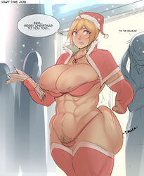 1girls abs ambiguous_gender ass ass_grab ass_slap bbw big_ass big_breasts blonde_hair bra breasts breasts_out_of_clothes cape christmas clothed gloves gyaru hairy hat huge_ass huge_breasts human humiliation hyper hyper_breasts inverted_nipples milf muscular muscular_female natedecock natsumi_(oc_natedecock) nipples nipples_outside nipples_visible_through_clothing original_character panties partially_colored pubic_hair public short_hair sketch straight thick_thighs thighhighs wide_hips