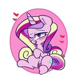 1:1 2019 animated bedroom_eyes blush clitoris clothing equid female feral friendship_is_magic hair half-closed_eyes horn looking_at_viewer louvely mammal multicolored_hair my_little_pony presenting presenting_pussy princess_cadance_(mlp) pussy seductive simple_background solo spread_legs spreading unicorn white_background