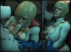3d alien alien_girl ass batman_(series) black_mask blonde_hair blowjob blue_eyes blue_gloves boobs breasts cape caressing_testicles cleavage cleavage_cutout close-up clothed_female clothed_paizuri clothed_sex costume cum cum_between_breasts cum_in_cleavage cum_on_body cum_on_breasts cum_on_upper_body cumshot dc dc_comics edit edited ejaculation ejaculation_between_breasts erection eyes_closed fellatio female formal gloves high_resolution highleg highleg_leotard karen_starr kneeling large_breasts leotard lips male no_bra oral outercourse paizuri paizuri_under_clothes paizuri_without_hands penis perpendicular_paizuri power_girl red_cape roman_sionis sex short_hair skin_tight suit superheroine superman_(series) titfuck titjob tits urbanator villain white_suit