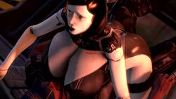 1boy 1girls 1robot 3d animated big_ass big_breasts bubble_butt cowgirl_position dat_ass edi female huge_breasts jeff_moreau looking_up mass_effect mass_effect_3 no_sound open_mouth robot_girl tagme technophilia webm