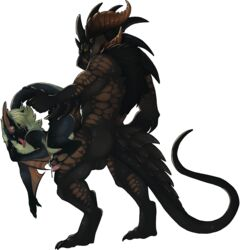 2019 against_wall alpha_channel anal anthro anthrofied archery_(artist) ass back_muscles backsack balls biceps big_dom_small_sub black_fur black_scales blue_eyes capcom claws domination dragon duo flying_wyvern fucked_silly fur green_hair grin hair hi_res hot_dogging leg_grab looking_pleasured male male/male monster_hunter muscular muscular_male nargacuga orange_eyes orange_scales penetration penis perineum pinned precum quads scales scalie sex sharp_teeth simple_background size_difference smile spikes stand_and_carry_position standing standing_sex tail_grab teeth toe_claws tongue tongue_out transparent_background triceps video_games winged_arms wings wyvern