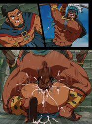 2boys abs anal anal_hair anal_penetration anal_sex angry anus armpit_hair ass ass_juice balls bara black_hair bottomless cape character_request clenched_teeth color copyright_request cum cum_in_ass cum_inside cumshot digital_media_(artwork) duo earrings eyes facial_hair feet gay human instant_loss_2koma konohanaya legs legs_up male male/male male_only male_penetrating malesub mask mating_press multiple_boys muscle muscles muscular muscular_male nipples not_furry open_eyes open_mouth orgasm outdoors pecs perineum pubic_hair red_eyes sandals sex shaking shoes skirt sky speed_lines sweat tan_skin teeth testicles thrusting trembling uncensored vein veins veiny veiny_muscles yaoi