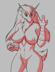 17:22 1girls 2019 abs anthro anthrofied avian blaziken breasts claws conditional_dnp feathers female female_only hair kadath looking_at_viewer muscular muscular_female neck_tuft nintendo nipples nude pokémon_(species) pokemon pokemon_rse pubic_hair pussy simple_background sketch smile solo thick_thighs tuft video_games wide_hips