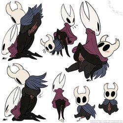 1:1 annie-mae anthro anus arthropod badgengar blush colored cum cum_in_pussy cum_inside female hi_res hollow_knight hollow_night hornet_(hollow_knight) insects knot knotting larger_female male male/female multiple_poses penis pose protagonist_(hollow_knight) sex size_difference smaller_male unusual_penis vessel_(species)