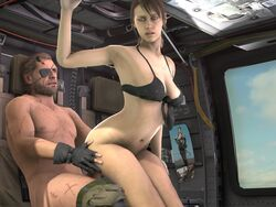 1boy 3d_(artwork) big_boss female maindobo metal_gear_solid quiet_(metal_gear) riding source_filmmaker