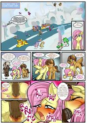 2017 absurd_res anibaruthecat animal_genitalia animal_penis ass balls blush closed_eyes comic cutie_mark dialogue dumb-bell_(mlp) english_text equid equine equine_penis erection feathered_wings feathers female feral fluttershy_(mlp) flying forced friendship_is_magic green_hair group group_sex hair half-closed_eyes hi_res hoops_(mlp) hooves male male/female male_penetrating mammal multicolored_hair my_little_pony nude open_mouth oral penetration penis pterippus pussy rape sex sweat tears text two_tone_hair vaginal_penetration vaginal_penetration wings young