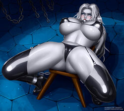 1girls big_breasts bondage breasts cameltoe chaos_comics cleavage female female_only gag lady_death large_breasts looking_at_viewer restrained solo spread_legs svoidist