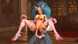 1boy 1girls 3d anal anal_penetration animal_ear animal_ears animal_genitalia animal_humanoid animated anthro blue_hair bouncing_breasts breasts canine canine_penis capcom cat_ears cat_girl cat_tail catgirl claws darkstalkers devilscry domination double_penetration duo erection felicia feline female femsub fur furry gallon hair highres humanoid jon_talbain large_breasts long_hair male male_domination mammal masturbation monster_girl naked navel nipples no_sound nude on_top open_mouth penetration penis pussy reverse_cowgirl_position sex short_loop source_filmmaker spread_legs spreading straight tail tail_insertion tail_masturbation tail_sex teeth uncensored vaginal_penetration video_games webm werewolf