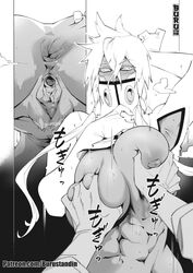 1girls abs anus areolae ass big_breasts bleach breasts buru female large_breasts looking_at_viewer monochrome muscles muscular muscular_female nipples pubic_hair pussy solo_focus tia_harribel