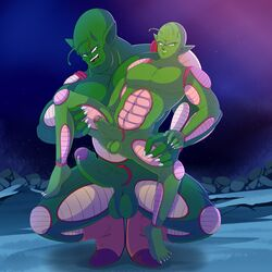 1:1 absurd_res balls dragon_ball duo enookie hi_res humanoid humanoid_penis male male/male namekian not_furry penis piccolo