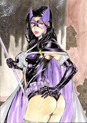 1girls 2016 ass belt big_ass big_breasts big_breasts birds_of_prey black_hair blue_eyes breasts building buildings busty cape city cityscape curvaceous curvy dat_ass dated dc dc_comics deviantart erect_nipples eyeshadow female female_only gloves gotham helena_bertinelli holding_staff human huntress huntress_(dc_comics) justice_league lanio_sena large_breasts leotard long_hair makeup mascara mask nipple_bulge nipples panties pink_lips pink_lipstick pinup pouch purple_belt purple_cape purple_gloves purple_leotard purple_mask purple_panties rooftop signature sky skyscraper solo staff star starry_sky stars superheroine thick_ass thick_thighs thighhighs thighs utility_belt voluptuous watermark