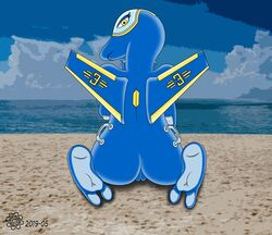 2019 2_toes aircraft aircraft_humanoid anthro barefoot beach breasts cloud covering covering_breasts covering_self digital_media_(artwork) f-35 feet female hi_res humanoid_feet kneeling living_aircraft living_machine looking_at_viewer looking_back machine nude outside plantigrade plump_labia pussy sea seaside sky soles solo solo_focus the-cog toes toony water