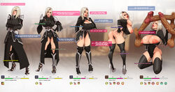 angelise_reiter armor armored_dress bbc bimbofication blonde_hair blue_eyes breasts cleavage clothed cock_hungry dark-skinned_male dark_skin final_fantasy final_fantasy_xiv garlean huge_balls huge_breasts huge_cock hypnosis large_ass mind_control multiple_penises penis text tortuga