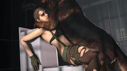 1boy 1girl 3d animated blueberg brown_hair canine dog female glove gloves human humping interspecies male metal_gear_solid metal_gear_solid_v missionary missionary_position no_sound ponytail quiet_(metal_gear) sex source_filmmaker straight webm zoophilia