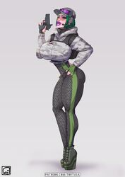 1girls bimbo breasts cleavage ela female female_only huge_breasts rainbow_six_siege solo thick_thighs tortuga