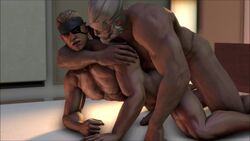 2boys 3d anal_sex animated big_boss blizzard_entertainment doggy_style from_behind from_behind_position gay metal_gear_solid metal_gear_solid_4 mysfmworkplace no_sound nude old_man overwatch penetration penis reinhardt sex source_filmmaker tagme webm yaoi