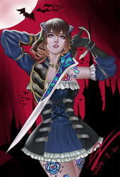 bloodstained:_ritual_of_the_night blue_eyes miriam_(bloodstained) sword weapon