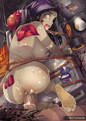 1boy 1girls anus ass barefoot big_breasts breasts duo feet female from_behind heart male monster monster_girl nude penetration penis sex straight undead vaginal_penetration wetvenom zombie