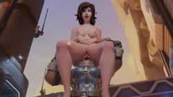3d anal anal_insertion anal_penetration anal_sex anal_vore ass_worship blender blizzard_entertainment davidmushroom face_in_ass facesitting head_in_ass head_insertion huge_insertion large_insertion living_butt_plug mei_(overwatch) overwatch sitting_on_head sitting_on_person spread_legs unbirthing vore what yuri zarya