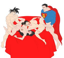 2boys 2girls abs adult ahe_gao bare_shoulders barefoot big_breasts bimbo black_eyes black_hair blush bottomless busty canon_couple cape chichi clark_kent cleavage clenched_teeth closed_eyes crossover curvy dc dc_comics dragon_ball dragon_ball_z dress ear_piercing earrings erect_nipple erect_nipples eyelashes female front_view fucked_silly grab grabbing group hair_bun half-dressed half_dressed hourglass_figure human husband_and_wife interspecies kryptonian lipstick lois_lane long_hair makeup male mature milf mother multiple_boys multiple_females multiple_girls multiple_males muscular muscular_male musle naked no_pants nude open_mouth piercing pose posing red_lipstick rolling_eyes saiyan shaved_pussy short_hair simple_background son_goku standing standing_sex sun1sol superman superman_(series) swapping_partners sweat tied_hair vein veins veiny veiny_penis voluptuous white_background wide_hips wife_swap