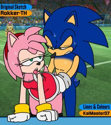 ahe_gao all_fours amy_rose bodily_fluids bowser clothed clothed_sex clothing crossover doggy_style eulipotyphlan female from_behind_position hedgehog hi_res koopa looking_pleasured male male/female mammal mario_bros nintendo olympics pants_down partially_clothed pent_up public public_nudity rokkerth scalie sex sonic_(series) sonic_the_hedgehog sweat thekaimaster07 video_games